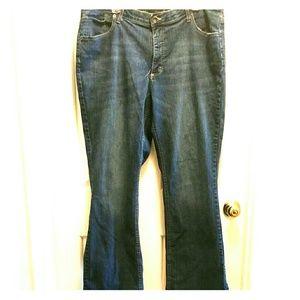 Merona dark wash bootcut jeans size 20W R